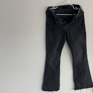 Ribbed long blackish MOTHER brand jeans. Brand new